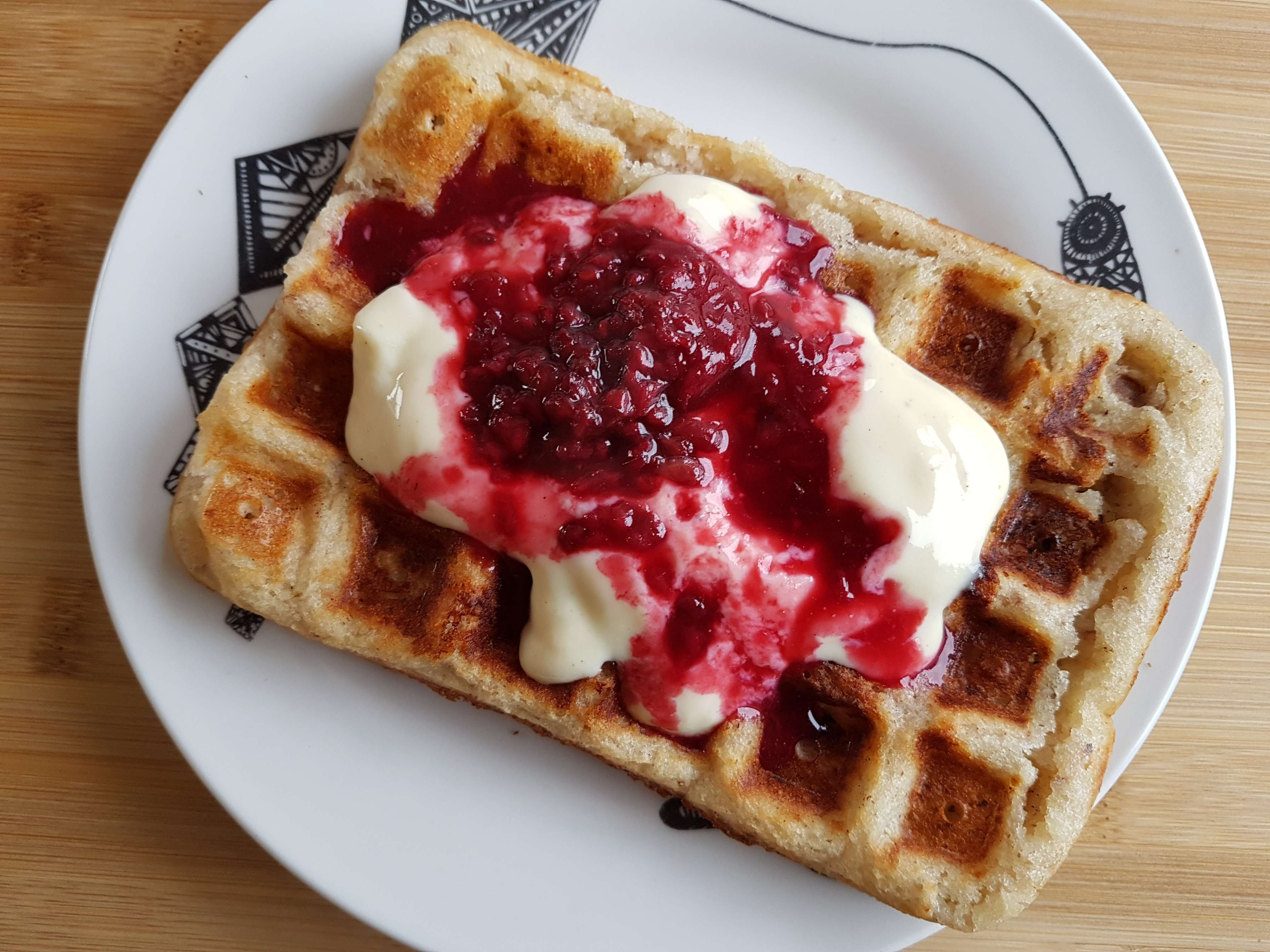 Gluten free and vegan waffles not just for breakfast (GF,V,VG)