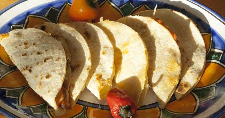 Quesadillas with authentic mexican corn tortillas (GF, V)