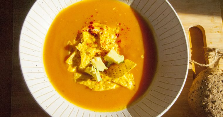 Healthy Smoky Squash Soup and Celebrating Halloween
