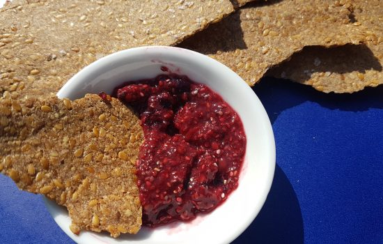 Thin & crispy Linseed cinnamon crackers